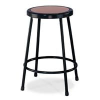 """Compare Prices Of  National Public Seating 6200 Series 24"""" Heavy Duty Steel Stool, Masonite Wood Seat, Black Frame"""