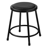 """Compare Prices Of  National Public Seating 6400 Series 18"""" Heavy Duty Vinyl Padded Steel Stool, Black Seat, Black Frame"""