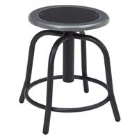 """Compare Prices Of  National Public Seating 6800 Series 18""""-24"""" Height Adjustable Designer Stool, Black Seat, Black Frame"""