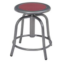 """Compare Prices Of  National Public Seating 6800 Series 18""""-24"""" Height Adjustable Designer Stool, Burgundy Seat, Gray Frame"""