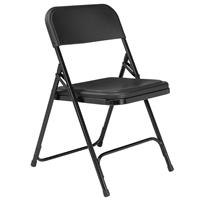 Compare Prices Of  National Public Seating 4 Pack 810 Premium Lightweight Plastic Folding Chair, Black Surface, Black Frame