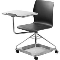 Compare Prices Of  National Public Seating Chair On The Go Mobile Tablet Chair, Supports 440 Lbs, Black Surface, Chrome Frame