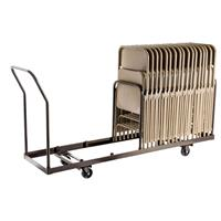 Compare Prices Of  National Public Seating DY-35 Folding Chair Dolly for Vertical Storage, 35 Chair Capacity, Supports 1100 Lbs, Brown Frame
