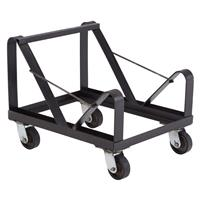 Image of National Public Seating DY85 Dolly for 40x 8500 Series Stack Chairs, Supports 660 Lbs, Black Frame