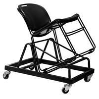 Image of National Public Seating DY-CL85 Dolly for 30x 850-CL Series Commercialine Stack Chairs, Black Frame