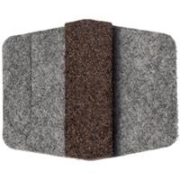 Image of National Public Seating Felt Glides for Sled Base Chairs, 100 Pack, Gray Frame