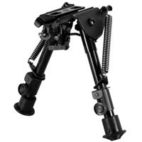 """Image of NcSTAR Compact Precision Grade Bipod with 3 Mounting Adapters, 5.5"""" - 8.0"""" High"""