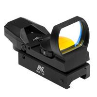 Image of NcSTAR 1x34mm Compact Reflex Red Dot Sight with Four 3 MOA Dot Reticles, with Integrated Weaver Mount, Black