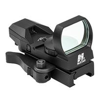 Image of NcSTAR D4BGQ Heads Up Series Green Four Reticle Reflex Sight with QR Mount, 3 MOA Dot Size, Black