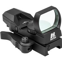 Image of NcSTAR D4BLQ Heads Up Series Blue Four Reticle Reflex Sight with QR Mount, 3 MOA Dot Size, 24x34mm Objective Lens, Black