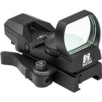 Compare Prices Of  NcSTAR D4BQ Red Four Reticle Reflex Sight with QR Mount, Unlimited Eye Relief, Black