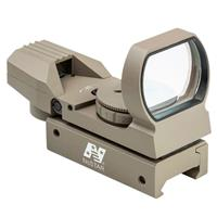 Image of NcSTAR Red and Green Dot Reflex Sight, 4 Different Reticles, Weaver Base, Tan