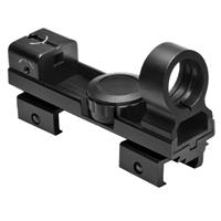 Image of NcSTAR 1x25mm Red/Green 5MOA Dot Reflex Sight, with Interchangeable Weaver and Dovetail Mount, Black