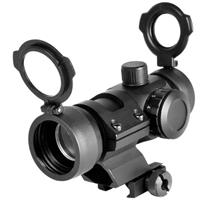 Image of NcSTAR 1x30mm Compact Red/Green Dot Sight with 3 MOA Dot Size, with Built in Cantilever Weaver Mount, Black