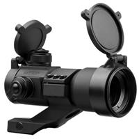 Image of NcSTAR 1x35mm Red/Green/Blue Dot Sight with 3 MOA Dot Size, with Built in Cantilever Weaver Mount, Black