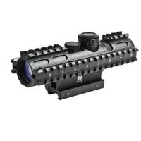 Image of NcSTAR 2-7x32mm Tactical Series Riflescope, Matte Black Finish with Blue Illuminated Mil-Dot Reticle, Weaver Style Mount, Adds 3 Picatinny Rails
