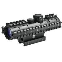 Image of NcSTAR 2-7x32mm Tactical Series Riflescope, Matte Black Finish with Blue Illuminated P4 Sniper Reticle, Weaver Style Mount, Adds 3 Picatinny Rails