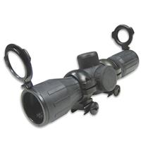 Image of NcSTAR 4x30 Tactical Series Riflescope, Matte Black Rubber Finish with Red & Green Illuminated P4 Sniper Reticle, Weaver Style Rings, 30mm Center Tube