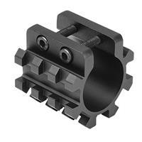 "Image of NcSTAR 12 Gauge Shotgun Tri-Rail Weaver Mount Base for 1"" Magazine Tubes"