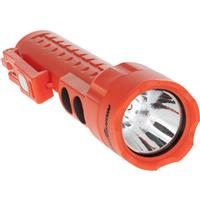 Image of Nightstick NSP-2422 MultiPurpose Dual-Light Non-Rechargeable LED Flashlight with 3x AA Battery and Integrated Magnets, 130 Lumens, IP-X7 Waterproof, Red