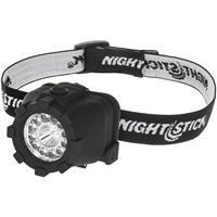 Image of Nightstick NSP-4606B Multi-Position Tilt Dual-Light Multi-Function LED Headlamp with 3x AAA Battery, 150 Lumens, IP-X7 Waterproof