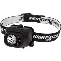 Image of Nightstick NSP-4610 Non-Rechargeable Multi-Function LED Headlamp, White Spotlight, White, Red or Green Floodlight, 150 Lumens High Spotlight, IP-X7 Waterproof, Black