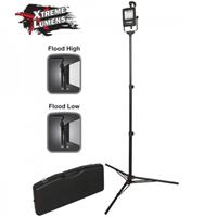 Image of Nightstick NSR-1514 Rechargeable LED Area Flood Light Kit, 1000 Lumens, Includes 6' Tripod and Carrying Case