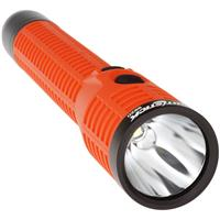 Image of Nightstick NSR-9920XL Polymer Duty/Personal-Size Rechargeable Dual-Light LED Flashlight with Magnet, Lithium-Ion Battery and AC & DC Power Supply, 650 High Lumens, IP-X7 Waterproof, Red