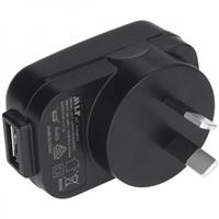 Image of Nightstick USB Type A Female to Male AU Type I AC Power Plug Adapter