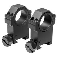 """Image of NcSTAR 30mm Rings, with 1"""" Insert, High Style, Pair"""