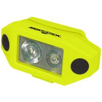 Image of Nightstick XPP-5460 X-Series Intrinsically Safe Low-Profile Dual-Light LED Headlamp with Hard Hat Clip, 200 Lumens, Dustproof/Waterproof, AAA Battery Power, Green