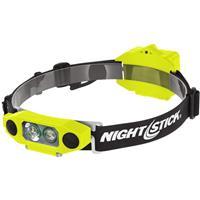 Image of Nightstick XPP-5462 DICATA Safe Low-Profile Dual-Light LED Headlamp, 310 Lumens, Dustproof/Waterproof, AA Battery Power, Green