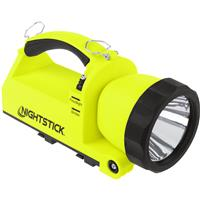 Compare Prices Of  Nightstick XPR-5586 Intrinsically Safe Rechargeable Dual-Light Lantern with Pivoting Head, 650/380/25 Lumens, Dustproof/Waterproof, Green