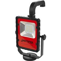 Image of Nightstick XPR-5592 Intrinsically Safe Rechargeable LED Multi-Function Area Light with 6' Tripod, 1000/500 Lumens, Dustproof/Waterproof, Green/Black