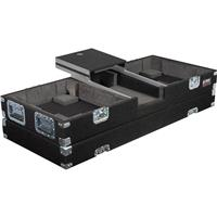 """Odyssey Innovative Designs Carpeted Glide Style DJ Coffin Case for 2 Turntables and 10"""" Mixer"""