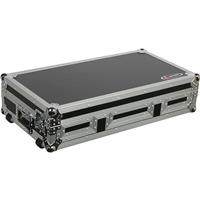 "Odyssey Innovative Designs FR12CDIWE Flight Ready Coffin Case for 2 Medium Format CD Players & 12"" Mixer, Built-in Wheels"