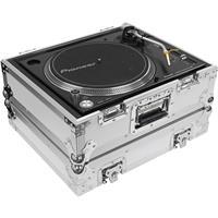 Odyssey Innovative Designs Flight Zone Universal Case for Technics 1200 Style DJ Turntables, White