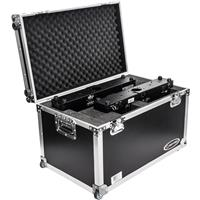 Image of Odyssey Innovative Designs Flight Zone Case with Pullout Handle and Wheels for Dual Chauvet DJ Intimidator Spot Duo 155 LED Moving Head