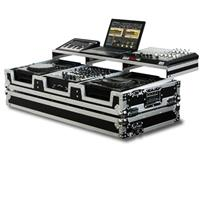 "Odyssey Innovative Designs FZGSP12CDJW Remixer Glide Style Series DJ Coffin Case for 2 Large Format CD Players & 12"" Width Mixer with Rollers"