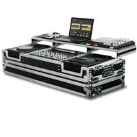 "Odyssey Innovative Designs FZGSP19CDJW Remixer Glide Style Series DJ Coffin Case for 2 Large Format CD Players & 19"" Width Mixer with Rollers"
