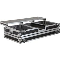 """Odyssey Innovative Designs Remixer Glide Style DJ Coffin Case for 2 Turntables & 12"""" Width Mixer with Rollers"""