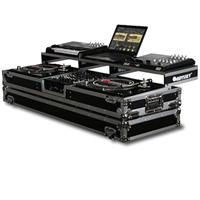 """Odyssey Innovative Designs Remixer Glide Style Series DJ Coffin Case for 12"""" Width Mixer & 2 Turntables in Standard Position"""
