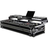 """Odyssey Innovative Designs Remixer Glide Style Series DJ Coffin Case for 19"""" Width Mixer & 2 Turntables in Standard Position"""