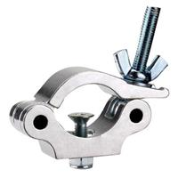 Image of Odyssey Innovative Designs Aluminum Pro Narrow Clamp with Round Neck Countersunk Bolt and Hexagonal Non-Slip Nut, 661 lbs Capacity, Aluminum Finish