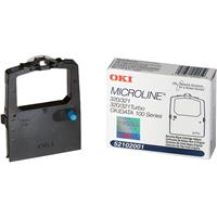 Image of OKI Data Black Ribbon for the MicroLine 120, 172, 180, 190, 320 & 321 Series and Turbo Series