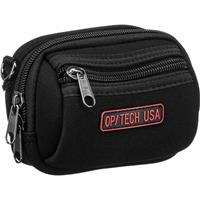 Image of Op/Tech Zippeez, Soft Belt Style Pouch for Small Digital Point-n-Shoot Cameras, Medium, Black