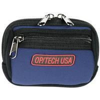 Image of Op/Tech Zippeez, Soft Belt Style Pouch for Small Digital Point-n-Shoot Cameras, Small, Navy