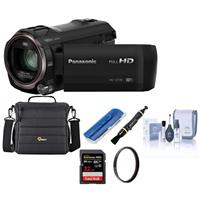Panasonic HC-V770 Full HD Camcorder, 20x Optical - Bundle with 32GB SDHC Card, Video Case, Cleaning Kit, Memory Wallet, 49mm UV Filter, Lenspen Cleaner, Card Reader,