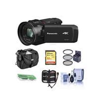 Panasonic HC-VX1K 4K Camcorder, 24x Leica Dicomar Lens, HDR Mode, Wireless Multi-Camera Capture - Bundle With 32GB SDHC Card, Video Bag, 62mm Filter Kit, Cleaning Kit, Memory Wallet,