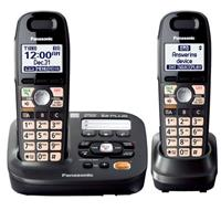 Panasonic KX-TG6592T Expandable Digital Cordless Answering System with 2 Handsets, 60 Channels, 1.9GHz Frequency